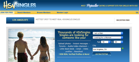 HSV Singles is a good online dating site among the top STD dating sites  where you can find thousands of profiles of HSV singles  If you are single and have