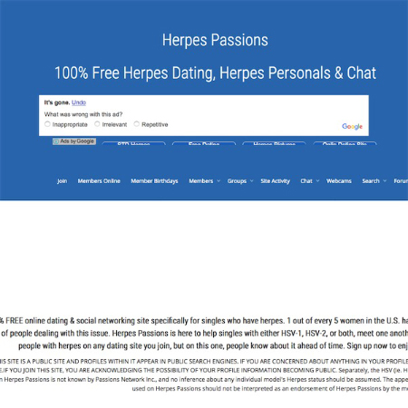 dating site for people with herpes blood